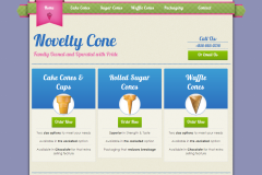 Novelty Cone </br> Ice Cream Cone Company Website